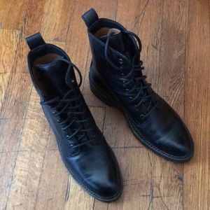 Frye Julie Combat Boot, Black, size 8
